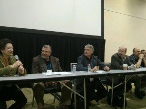Michael Mann (third from right) and Naomi Oreskes (left) are 'utterly lacking in credibility.'