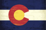 The flag of Colorado with a texture for you. Enjoy !