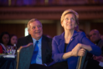 Democratic U.S. Sens. Dick Durbin (IL) and Elizabeth Warren (MA) at the Environmental Law & Policy Center dinner on April 29. 2016. (Photo from ELPC Facebook page.)