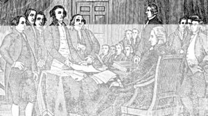 Signing The USA American Declaration Of Independence