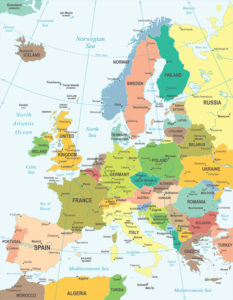 Europe map - highly detailed vector illustration