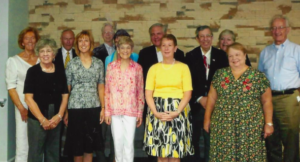 Some attendees of an event honoring Elizabeth Clarke at The Heartland Institute.